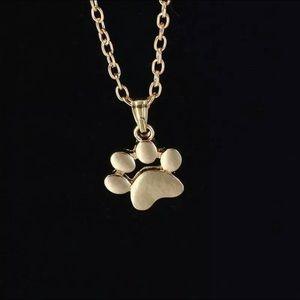 Animal Paw Necklace Gold Tone